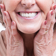 Woman with dentures